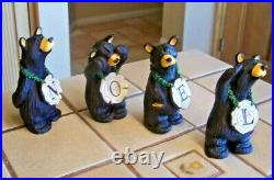 Bearfoots Noel Bears 4 Piece Jeff Fleming Big Sky Carvers New