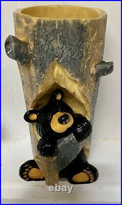 Bearfoots Sparky Candle Holder Big Sky Carvers Jeff Fleming Limited Edition