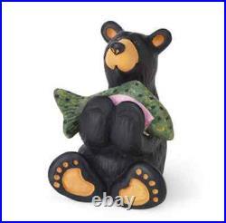Bearfoots Tiny Cub with Fish Mini Figurine from Big Sky Carvers # B5080063