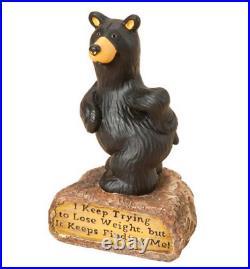 Bearfoots Weight Finds Me Figurine by Big Sky Carvers # B5080036