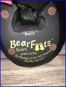 Bearfoots bears jeff fleming big sky carvers Figures Barry Boyd Bart Fuzz Matty