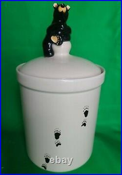 Bearfoots by Jeff Fleming Big Sky Carvers Ceramic Canister or Cookie Jar 10.5