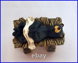 Beartivity 7-PC Nativity Set Bearfoots Big Sky Carvers Jeff Flemming RETIRED