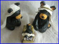 Beartivity Bearfoots Jeff Fleming Big Sky Carvers Complete Nativity Christmas