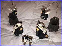 Beartivity l Bearfoots Jeff Fleming Big Sky Carvers Complete 7 Pc Nativity Set