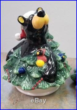 Big Sky Barefoot Bears Christmas Tree Cookie Jar