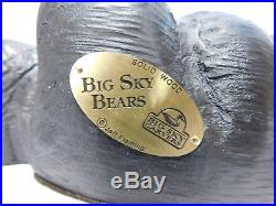 Big Sky Bears Bear Laying Down Solid Wood Big Sky Carvers Jeff Fleming