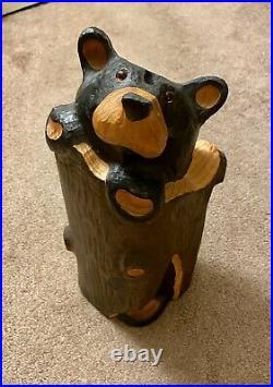 Big Sky Bears, Solid Pine Wooden Statue, Jeff Fleming, Big Sky Carvers
