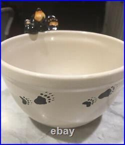 Big Sky Carver Bears Jeff Fleming Bearfoots Ceramic Bowl