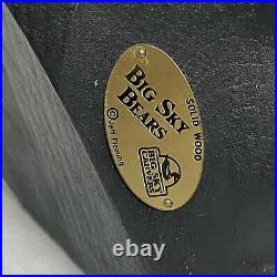 Big Sky Carvers 10 Conner Jeff Fleming Black Bear Solid Western Pine Carved