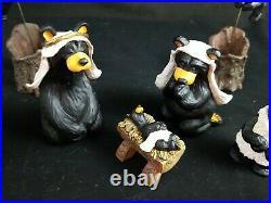 Big Sky Carvers 12 Piece Bearfoot Beartivity I And II Nativity By JEFF FLEMING