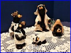 Big Sky Carvers 5 Piece Bearfoots Beartivity II Nativity Artist Jeff Fleming