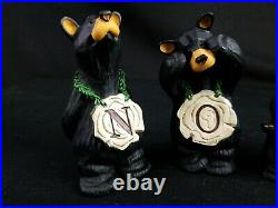 Big Sky Carvers BEARFOOTS Bears NOEL 4 Piece Set By Jeff Fleming Retired