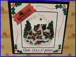 Big Sky Carvers BEARFOOTS By Jeff Fleming LOT OF 4 Bears Angels Choir