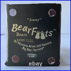 Big Sky Carvers BEARFOOTS Jenny Bear Collection Jeff Fleming Bear in a Mirror