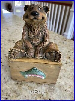 Big Sky Carvers BEARFOOTS Kritter Hollow Box Bear Collection Jeff Fleming
