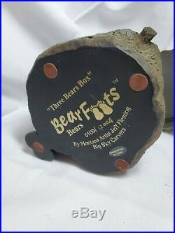 Big Sky Carvers BEARFOOTS Three Bears Box Black Bear RARE tag Jeff Fleming