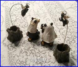 Big Sky Carvers BEARTIVITY BearFoots Nativity Scene Full Set Jeff Fleming