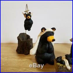 Big Sky Carvers BEARTIVITY I Set of 5 BEARFOOTS Bears by Jeff Flemming