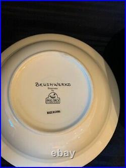 Big Sky Carvers BRUSHWERKS Bear Cabin Rimmed Soup Bowl Set Of 3