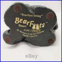 Big Sky Carvers BearFoots Bears 0100/19867 Bearfoot Swing by Jeff Fleming