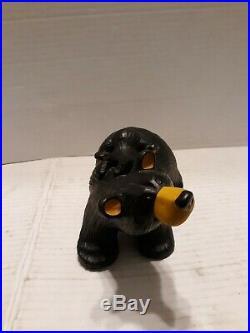 Big Sky Carvers BearFoots Jill And Cub Figurine By Jeff Fleming Bear Foots