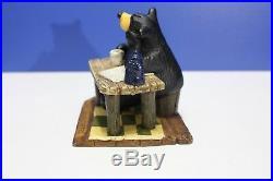 Big Sky Carvers Bear Before Coffee Figurine Desk Statue Bearfoots Jeff Fleming