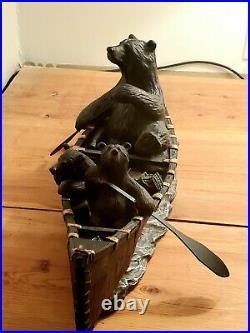 Big Sky Carvers Bear Canoe Trip Sculpture Jeff Flemming