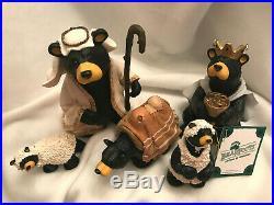 Big Sky Carvers Bear Foots Beartivity II Jeff Fleming Nativity Figures Bear Ret