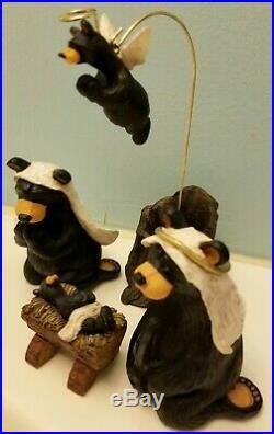 Big Sky Carvers Bear Foots Beartivity Jeff Fleming Nativity Figures Bear Ret
