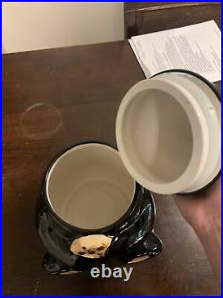 Big Sky Carvers Bear Foots Tabletop Ceramic Black Bear Cookie Jar Jeff Fleming