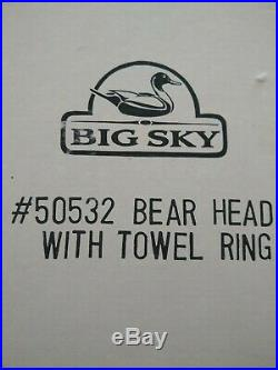 Big Sky Carvers Bear Head Jeff Fleming Towel Ring