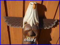 Big Sky Carvers- Bear -bald Eagle Rare