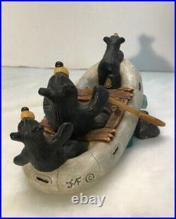 Big Sky Carvers Bearfoot Bears RIVER RAFTERS by Jeff Fleming #0106/A399