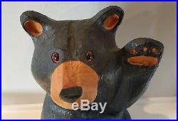 Big Sky Carvers Bearfoot Mikey Waving Black Bear