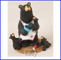 Big Sky Carvers Bearfoots A Handful Figurine Momma Bear with Cubs