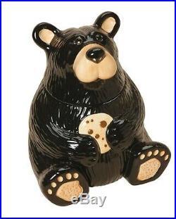 Big Sky Carvers Bearfoots Bear Ceramic Cookie Jar
