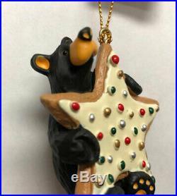 Big Sky Carvers Bearfoots Bear Cookie Star Ornament