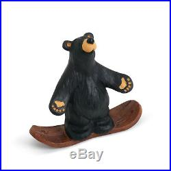 Big Sky Carvers Bearfoots Bear Snowboarding Bear Figurine