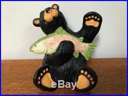 Big Sky Carvers Bearfoots Bear Tom, Bear With Trout