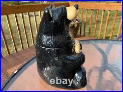 Big Sky Carvers Bearfoots Bears Black Bear Cookie Jar By Jeff Fleming