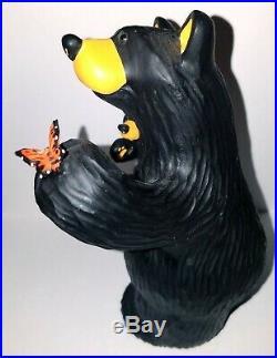 Big Sky Carvers Bearfoots Bears Butterfly Greeting Cabin Decor Jeff Fleming 6 in