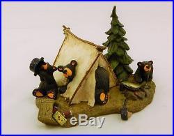 Big Sky Carvers Bearfoots Bears Camp Runamuck Figurine Free Shipping Brand New