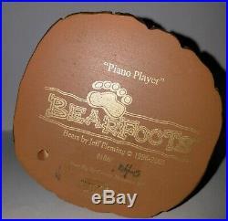 Big Sky Carvers Bearfoots Bears Piano Player Cabin Decor Jeff Fleming 3 in Rare