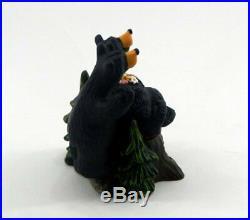 Big Sky Carvers Bearfoots Bears Relaxing On Stump Personalizable Figurine New