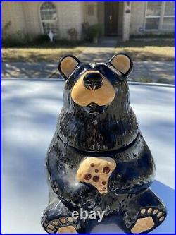 Big Sky Carvers Bearfoots Black Bear Cookie Jar By Jeff Fleming