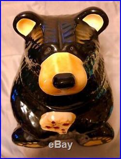 Big Sky Carvers Bearfoots Black Bear Cookie Jar artist Jeff Fleming