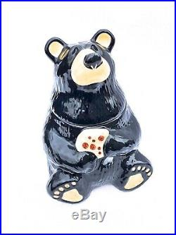 Big Sky Carvers Bearfoots Black bear Cookie Jar Jeff Fleming