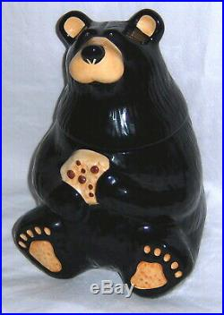 Big Sky Carvers Bearfoots By Jeff Fleming Bear Cookie Jar Mint