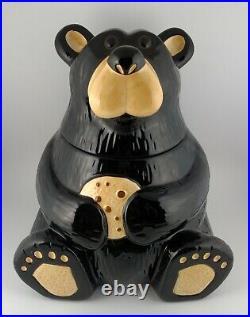 Big Sky Carvers Bearfoots Ceramic Canister Cookie Jar Jeff Fleming Black Bear